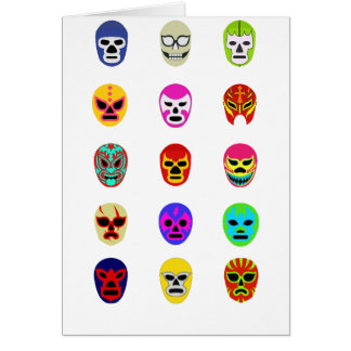 Lucha Libre Mask Mexican Wrestling Card