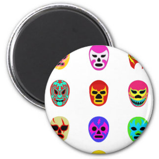 Lucha Libre Mask Mexican Wrestling Magnet