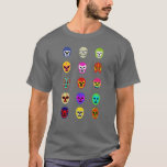 Lucha Libre Mask Mexican Wrestling Tee Shirt