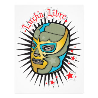 Lucha Libre Mexican Wrestling Mask Custom Flyer