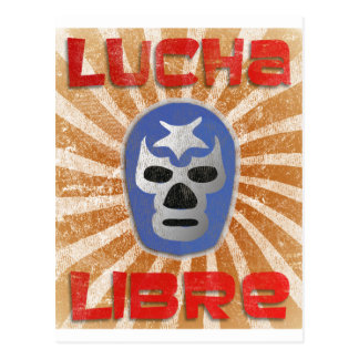 Lucha Libre Mexican Wrestling Postcard