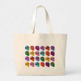 Lucha Libre Sugar Skulls Large Tote Bag
