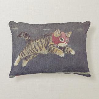 Luchador Kitty Decorative Cushion