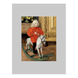 """""""Lucia Day!"""" Boy on a Rocking Horse Postcards"""