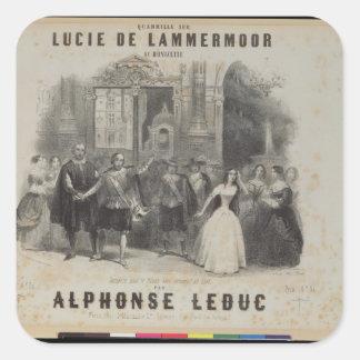 Lucia de Lammermoor' by Gaetano Donizetti Square Sticker