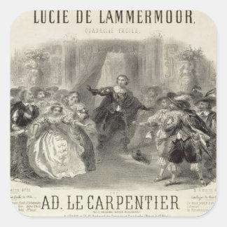 Lucia de Lammermoor' the opera Square Sticker