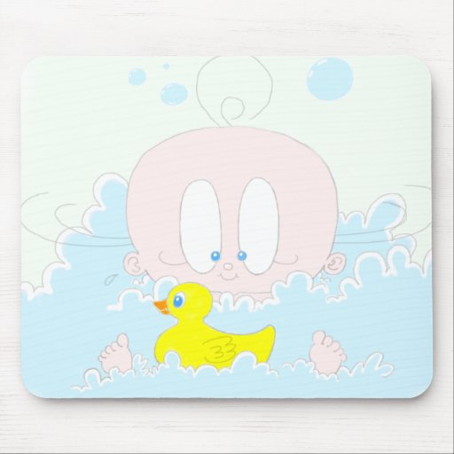 Lucia in Bubbles Mousepads