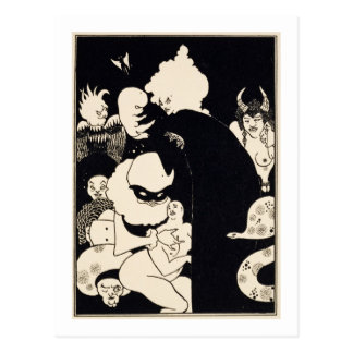 Lucian's Strange Creatures, illustration from 'Luc Postcard