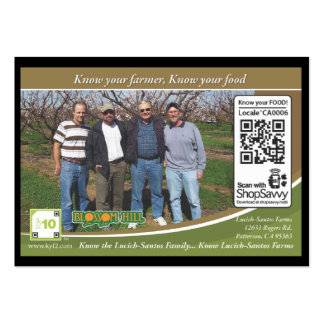 Lucich-Santos Farms Traceable Shelftalker Pack Of Chubby Business Cards