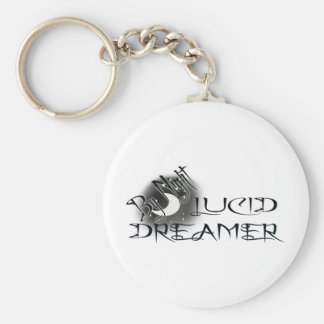 Lucid Dreamer by Night Basic Round Button Key Ring
