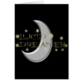 Lucid Dreamer Moon and Stars Greeting Card