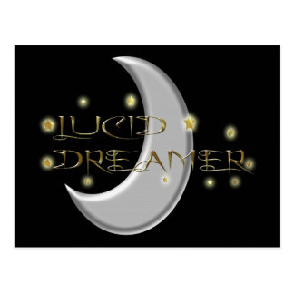 Lucid Dreamer Moon and Stars Postcard