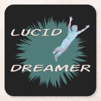 Lucid dreaming cup coaster design.