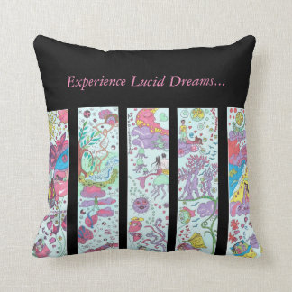 Lucid dreams throw pillow