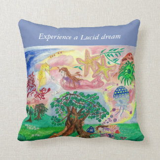Lucid dreams - write your wished dream throw pillow