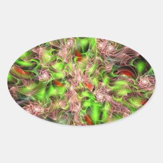 Lucid Rosebush Oval Sticker