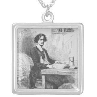Lucien de Rubempre writing a letter Silver Plated Necklace