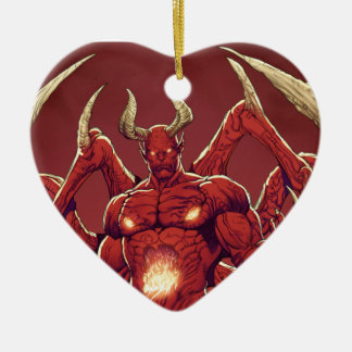 Lucifer the Devil, the Prince of Darkness, Satan Ceramic Heart Decoration