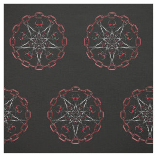 Lucifer's Star Pentacle Pagan fabric