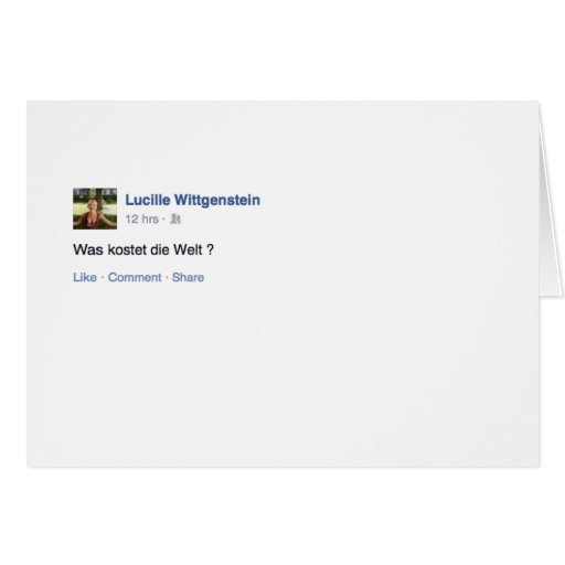Lucille Wittgenstein Greeting Card