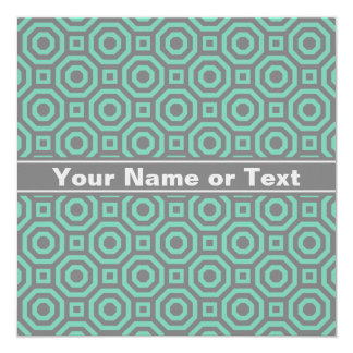 Lucite Green and Gray Nested Octagon Invitation
