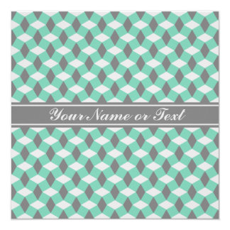 Lucite Green and Gray Wavy Pattern Invitation