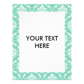 Lucite Green and White Classic Damask 21.5 Cm X 28 Cm Flyer