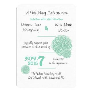 """Lucite Green Hydrangea Wedding Invitation 5"""" X 7"""" Invitation Card"""