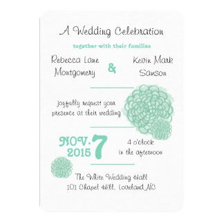 Lucite Green Hydrangea Wedding Invitation