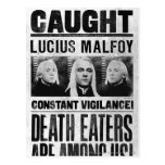 Lucius Malfoy Wanted Poster Postcard