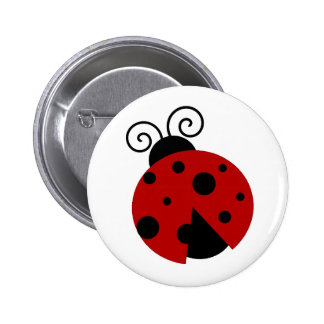 Luck be a Ladybug Cartoon 6 Cm Round Badge