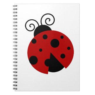 Luck be a Ladybug Cartoon Notebooks