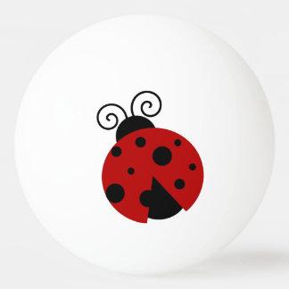 Luck be a Ladybug Cartoon Ping Pong Ball