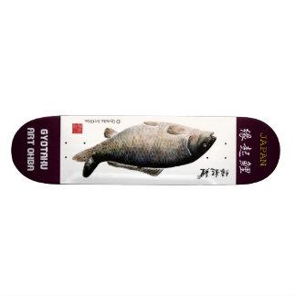 Luck carp! < Luck come! Luck love! > GYOTAKU ART J Skate Board Decks