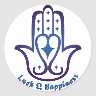 Luck & Happiness Classic Round Sticker