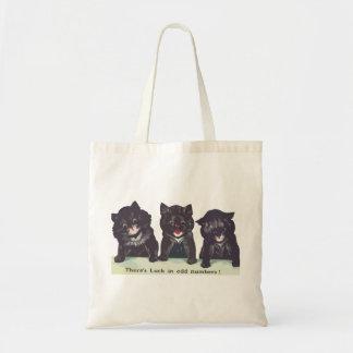 Luck in odd numbers cat bag Hikingduck Tote Bag