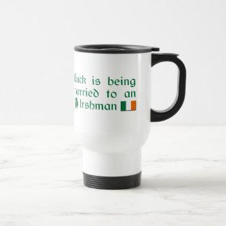 Luck is Being Married To An Irishman Coffee Mugs