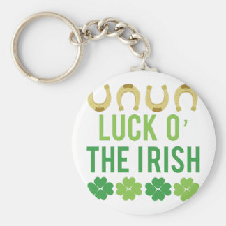 Luck O Irish Basic Round Button Key Ring