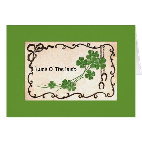 Luck O' The Irish Card