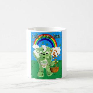 Luck O' The Irish cute skunk with basket catching Basic White Mug