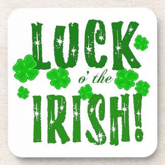 Luck o the Irish Lucky Green Shamrocks Coasters