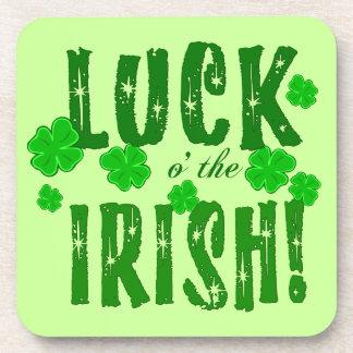 Luck o the Irish Lucky Shamrock Coasters
