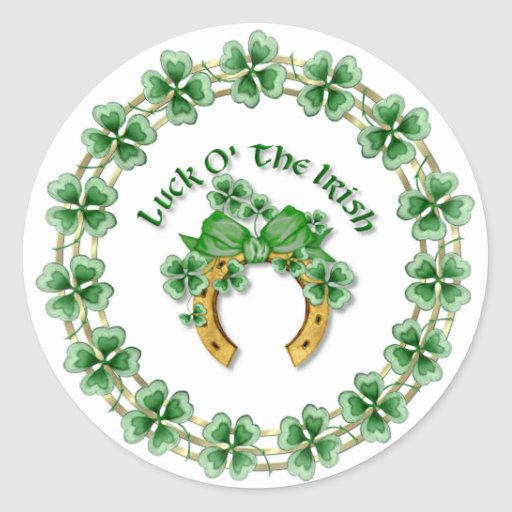 Luck O' The Irish Round Sticker