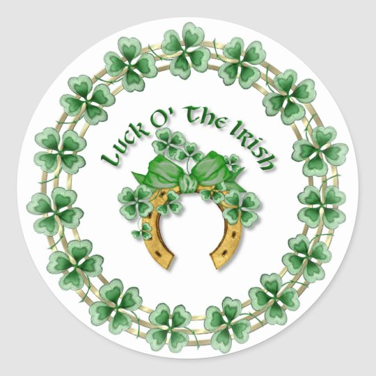 Luck O' The Irish Round Sticker