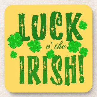 Luck o the Irish Seven Lucky Shamrocks Coasters