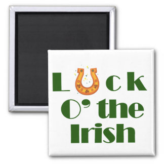 Luck o the irish square magnet