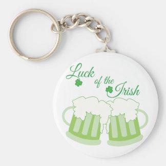 Luck Of Irish Basic Round Button Key Ring