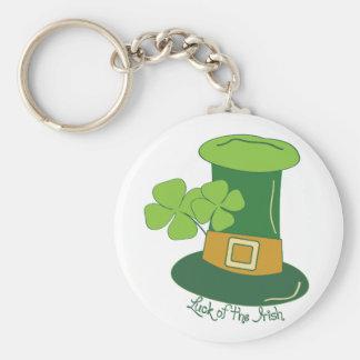 Luck Of The Irish Basic Round Button Key Ring