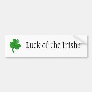 Luck of the Irish! bumper sticker