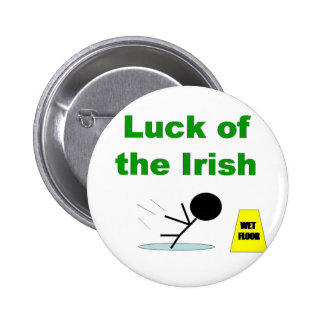 Luck of the Irish.png 6 Cm Round Badge